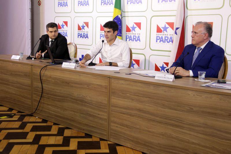 Coletiva com Governador do Estado do Pará Helder Barbalho